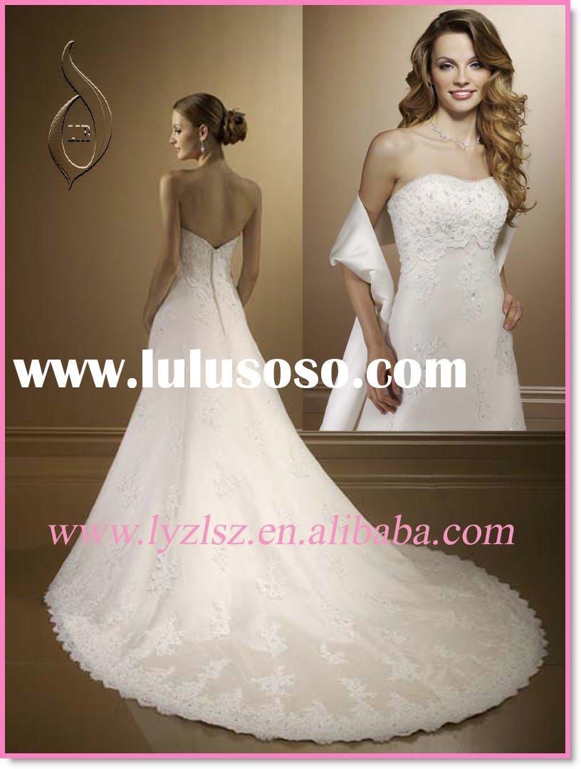 HY0210 2011 new style Lace Wedding Dress with Shawl