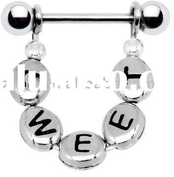Handcrafted Personalized Nipple Ring body piercing jewelry