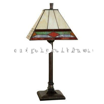 Handcrafted Shade Stained Glass Table Lamp TFA-2109