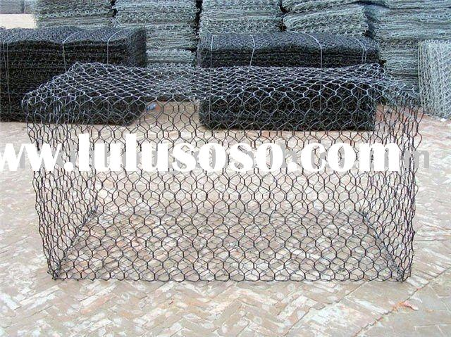 Hexagonal gabion mesh, Hot-dipped Galvanized Hexagonal Wire Mesh (Factory)