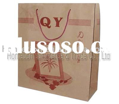 High end quality Natural kraft paper bags NO.HF-OE2D
