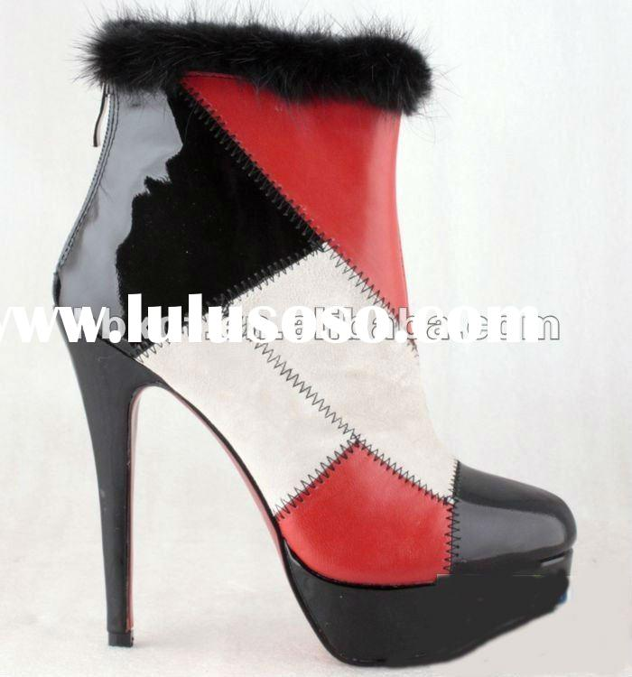 Hot sale fashion and warm high heel boots for women