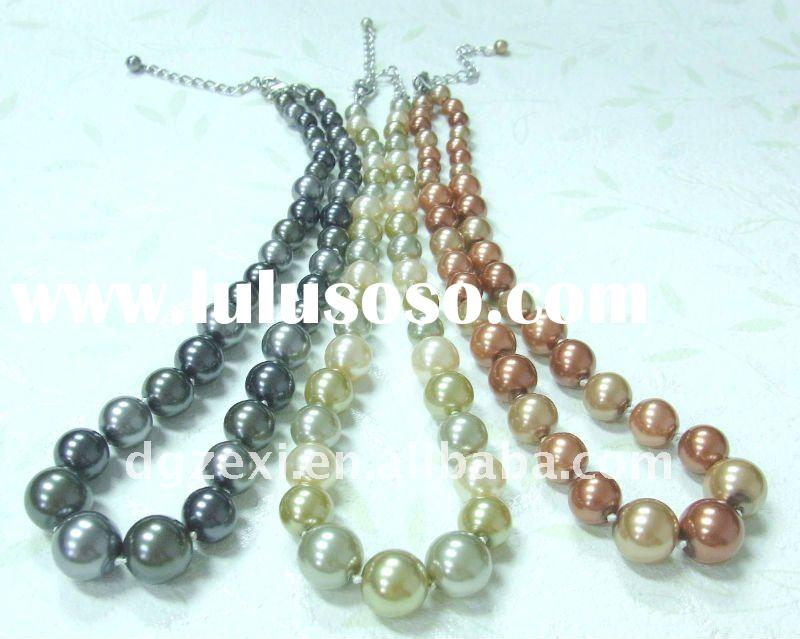Imitation jewellery designs,faux pearl necklace
