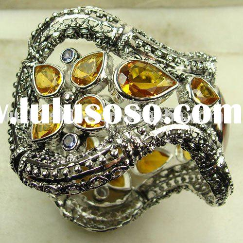 Jewelry Antique Silver Bracelets Handmade Gemstone Jewelry Brazil Citrine