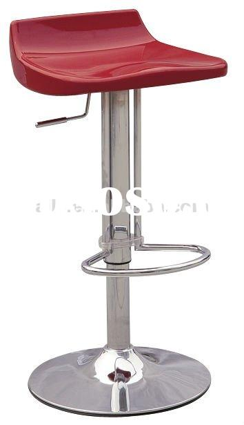 LS-0821 red plastic steel chair