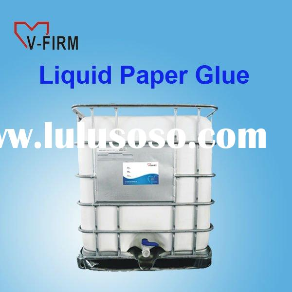 Liquid Paper Glue to Bond Label to Bottles