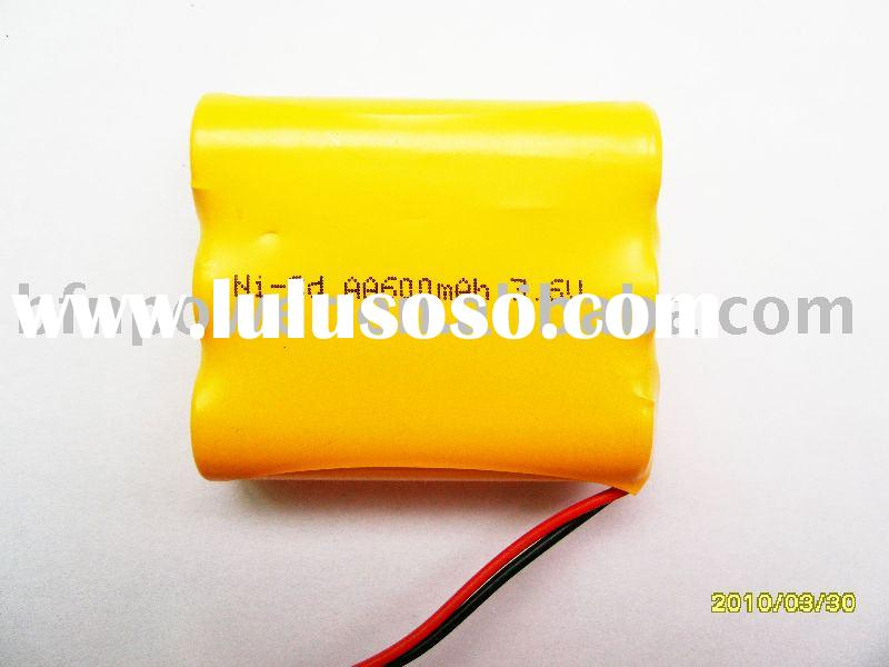 Ni-CD battery Pack:AA 600mAh 3.6V rechargeable battery pack