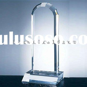 Optical Crystal Tower Arch Blank Plaque Award