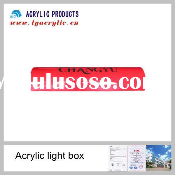 Outdoor semi-cylinder advertising display acrylic light box