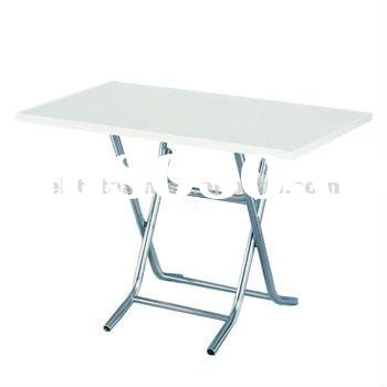 PVC Steel Top Small plastic Folding Tables