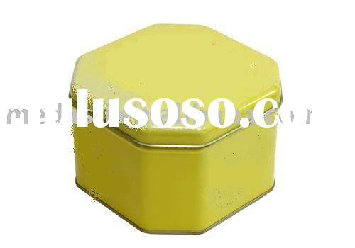 Polygon tea/candy/chocolate/cookie/biscuit/storage/gift packaging tin box (#KK9041) size:118 x 118 x