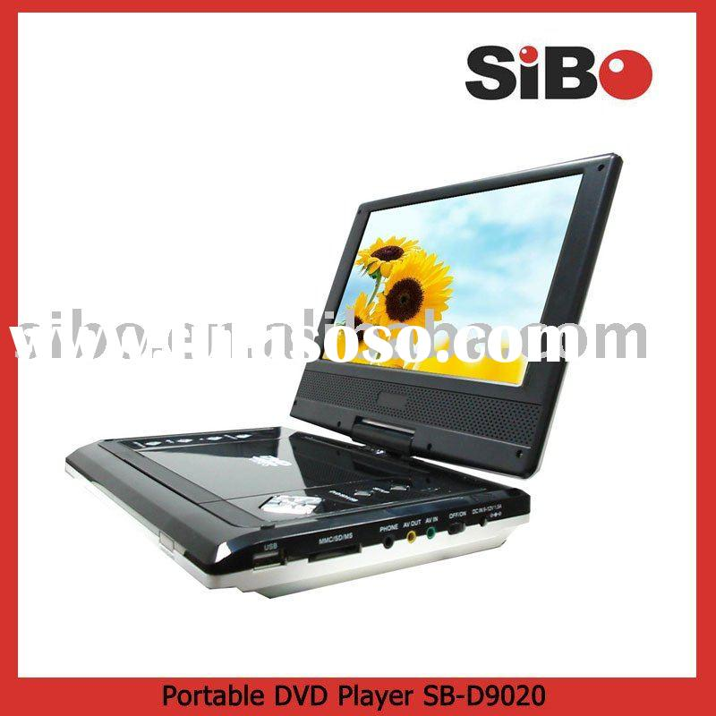 Portable DVD Player with Multi-Region Setup, Car Mounting ket, Carry case