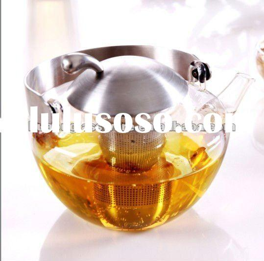 Pyrex Glass Teapot with Stainless Filter and Lid