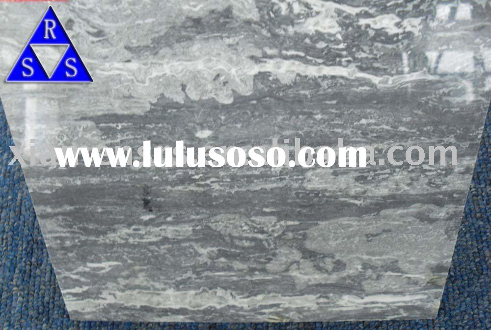 Sell China Silver wave polished grey marble tile