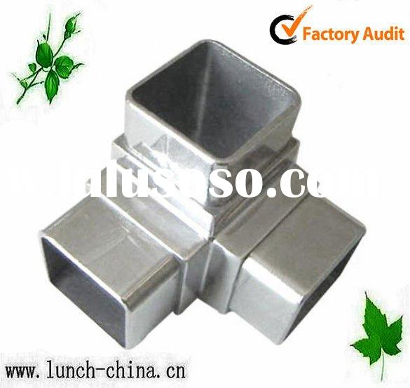 Stainless steel 3 way square tube connector