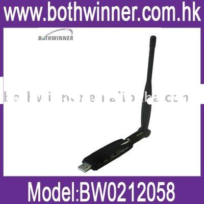 USB wireless lan card with antenna