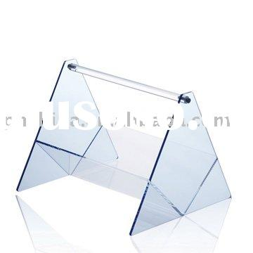 Unique Acrylic Magazine Display,Perspex Magazine Stand,Acrylic Document Holder