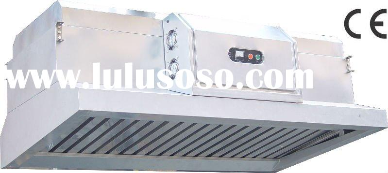 Versatile Stainless Steel Hood with Air Cleaning Electrostatic Filter