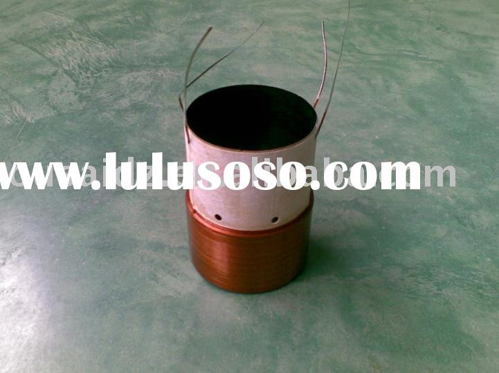 Voice coil,speaker component,Plat wire voice coil