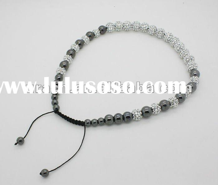 Wholesale Fashion Shamballa Necklace for Women,Adjustable Hand-Made Micro Pave CZ Bead Necklace,Fash