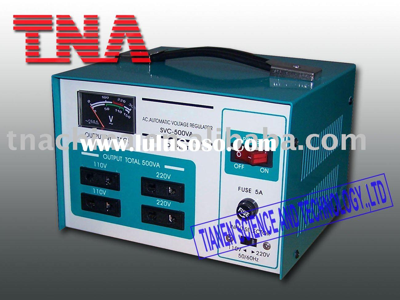 automatic ac home voltage stabilizer circuit