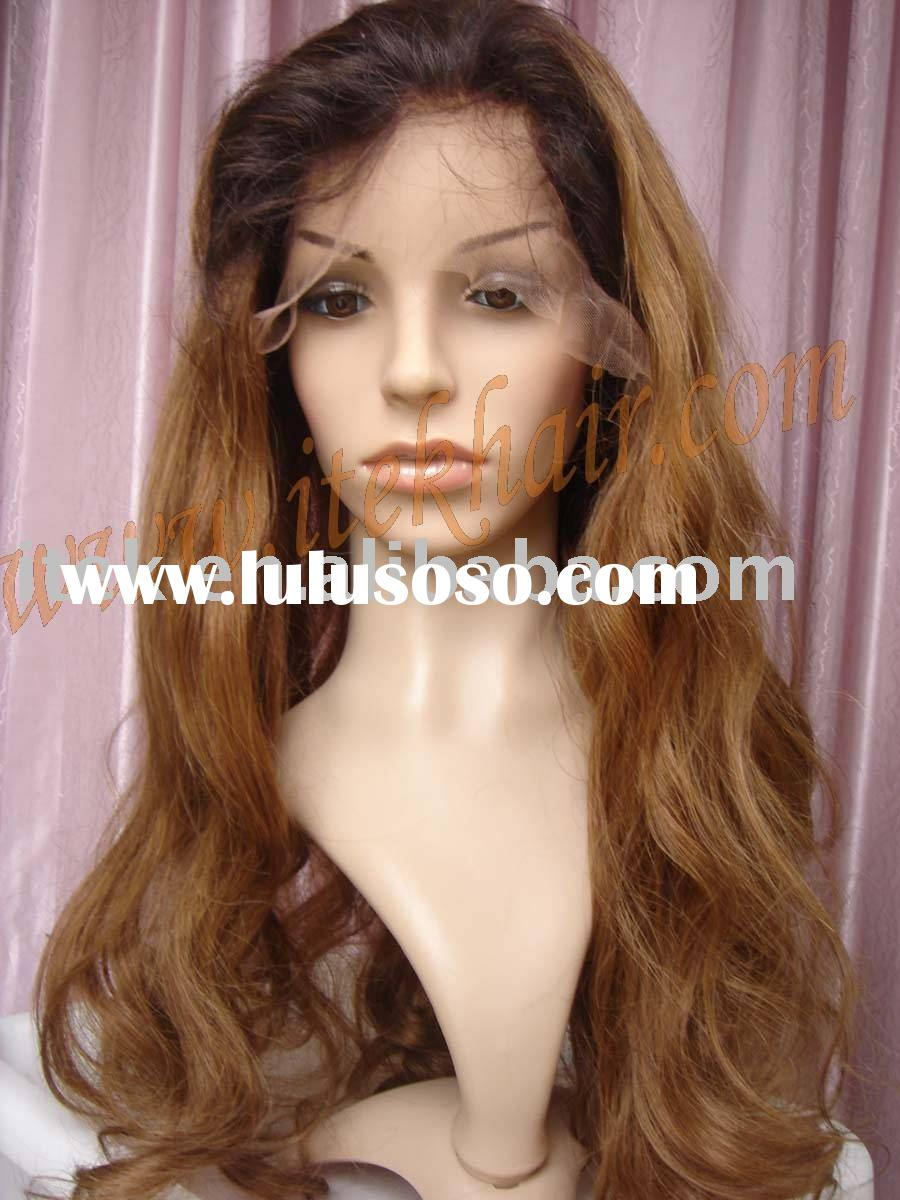 beyonce style in stock,loose wave 100% Indian remy hair full lace wig, accept paypal!