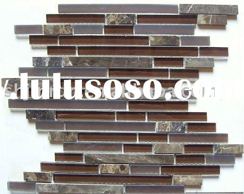 brown broken joint glass stone mosaic tiles