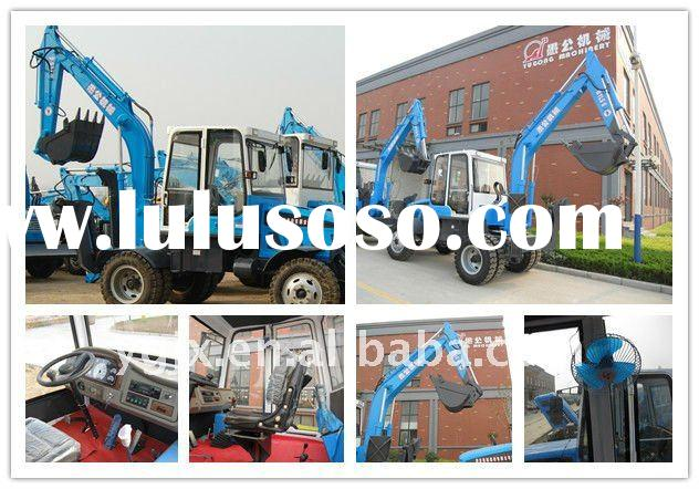 compact excavator, hot sale in the market high quality low price.bucket wheel excavator5.5 ton wheel