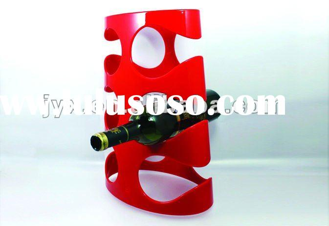 cylindrical modern acrylic wine holders/racks/stands