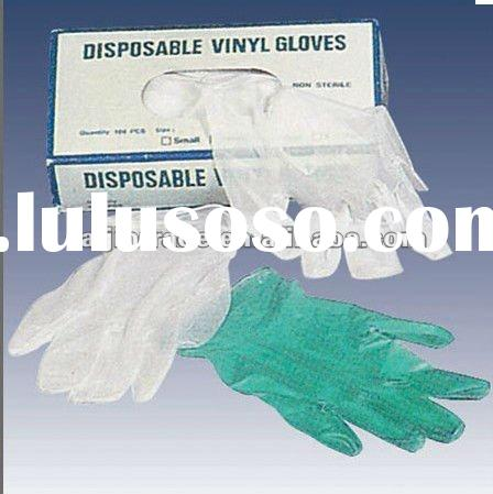 disposable pvc gloves with CE, gloves industry