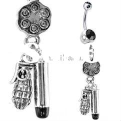 fancy banana military navel rings body jewelry piercing
