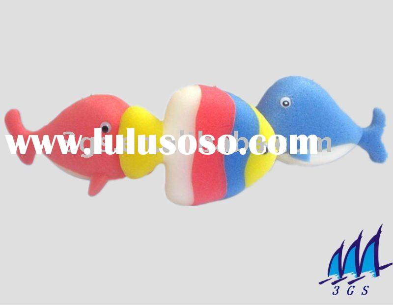 fish shape baby kids bath shower toy sponge