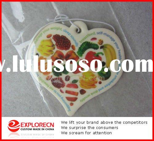 fruit printed novelty Car Air Freshener