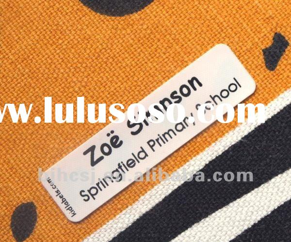 high quality custom fabric iron on labels for clothing