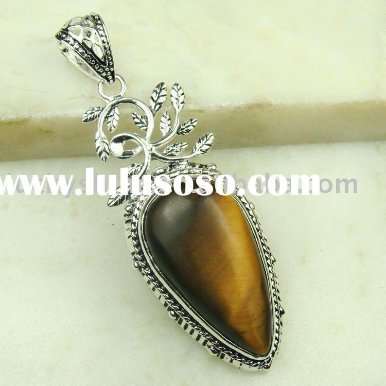 jewelry manufacturer tiger's eye gemstone pendant costume jewelry