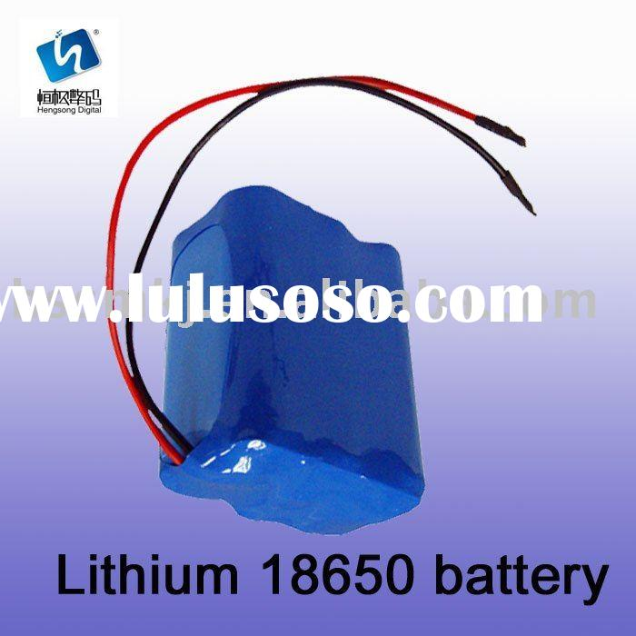 li-ion 18650 rechargeable battery pack with wires