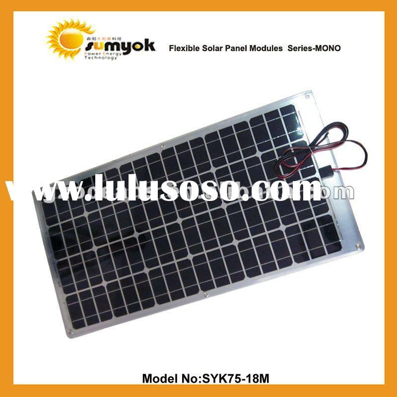 marine Semi flexible solar panel - 12v solar battery charger 75w