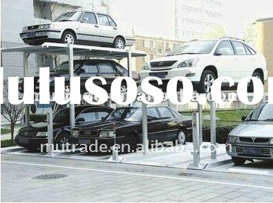pit hydraulic car parking lift 3 level CE approval