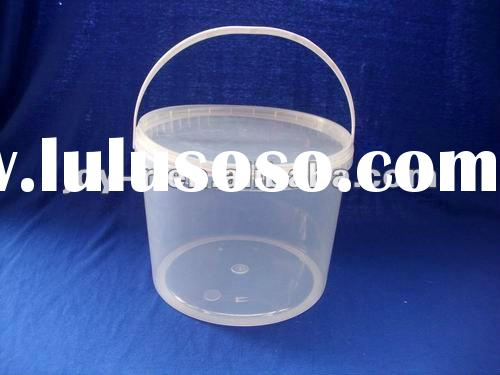 plastic buckets with handle and lids