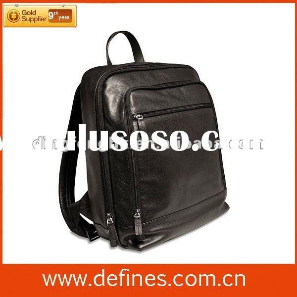 professional manufacturer leather laptop backpack