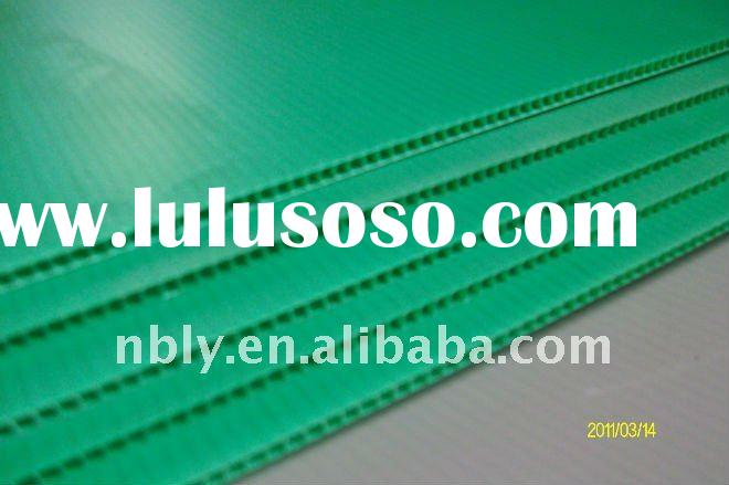 recyclable pp plastic corrugated sheet roofing
