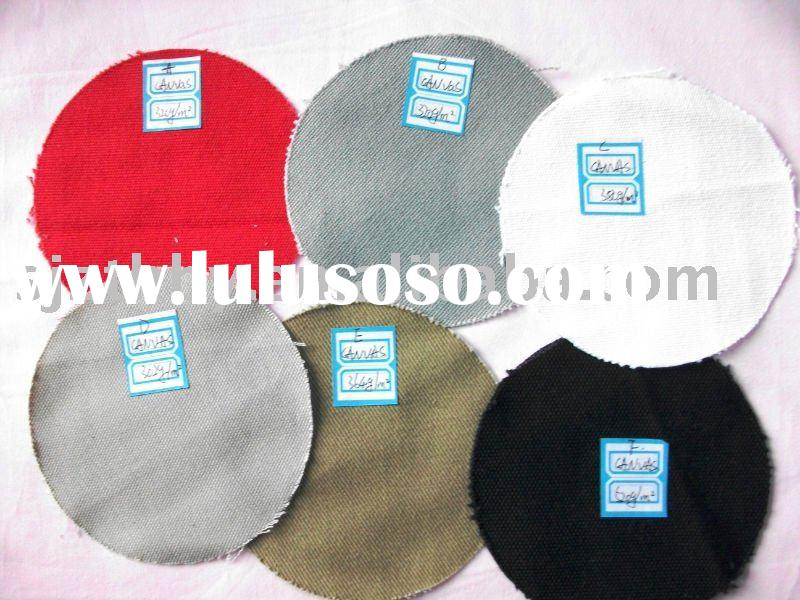 thick plain various 100% cotton canvas fabric for bags
