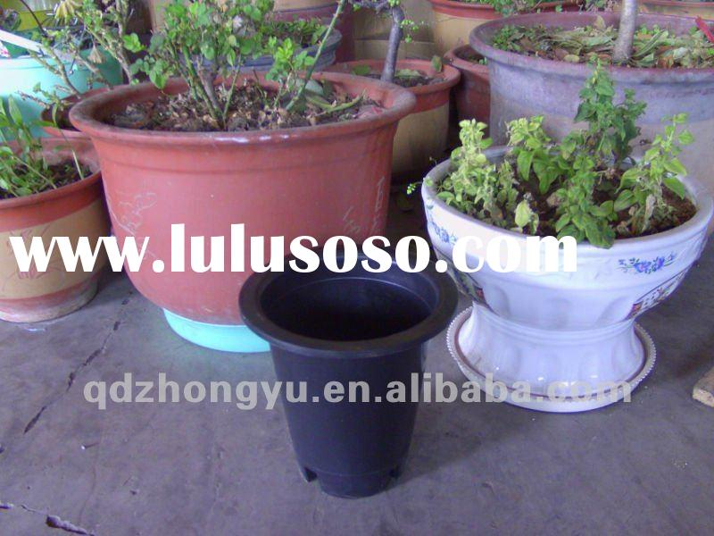 wholesale black plastic flower pots with hole