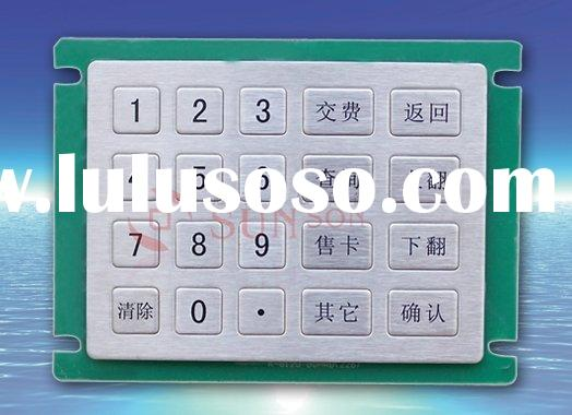 20 keys Stainless steel numeric keypad for self-service terminal,internet kiosk,industrial control,m
