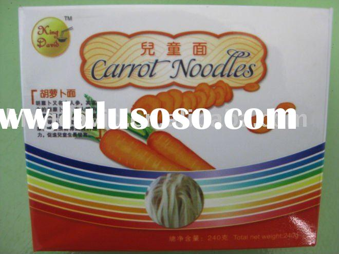 240g Hand Made Carrot Flavour Dry Instant Children Noodles