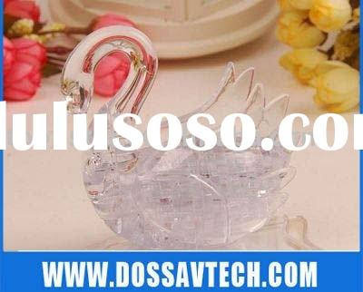 Crystal Swan - 3D Crystal Puzzle Swan Transparent & Pure Swan - 44PCS
