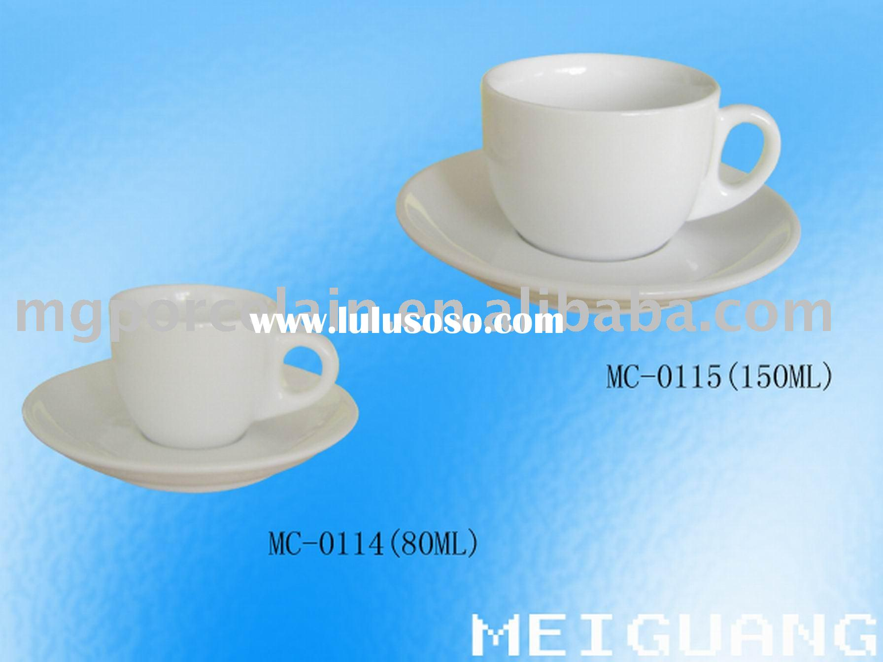 Fine Porcelain coffee cup and saucer