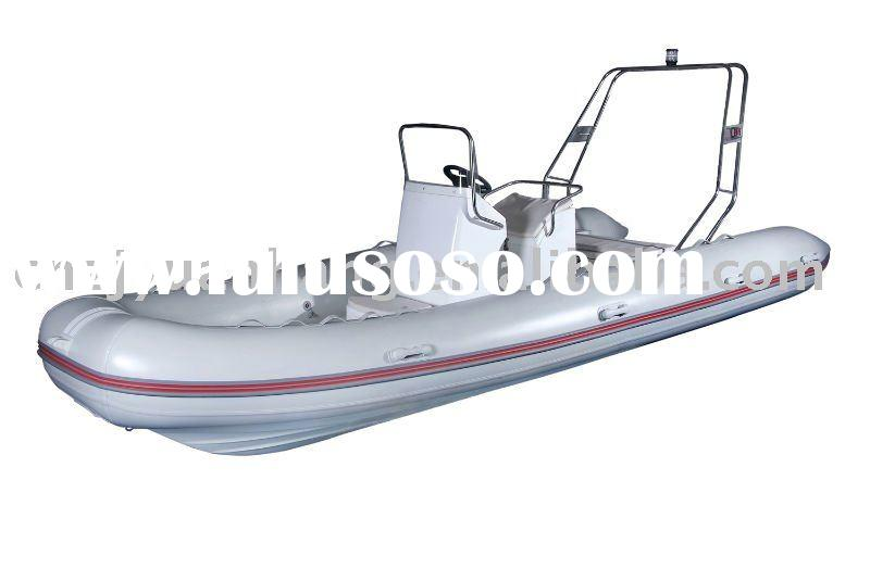 Hot! RIB 550 1.2mm imported pvc tube hull rigid fiberglass boat with console cabin