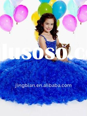 Hot Sell Suzhou Gorgeous Girls party dresses 2012 Nice Flower Girl Dress Pop Child Clothes Strapless