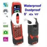 LV599 Red, Waterproof + Dustproof + Shockproof Flip Mobile Phone, Bluetooth FM function, Dual Sim ca
